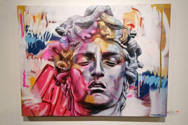 Retrato de Pichi y Avo en la ocasión de su exposición Marbles and Bronzes en la Stolen Space Gallery de Londres
