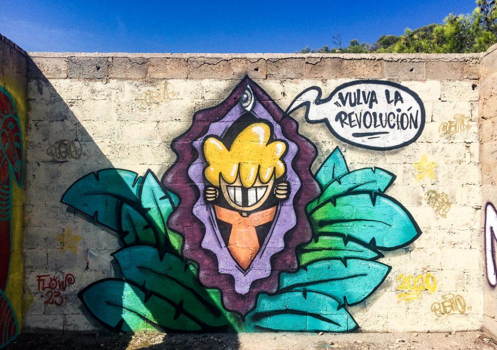 Street art cala d'en serra ibiza